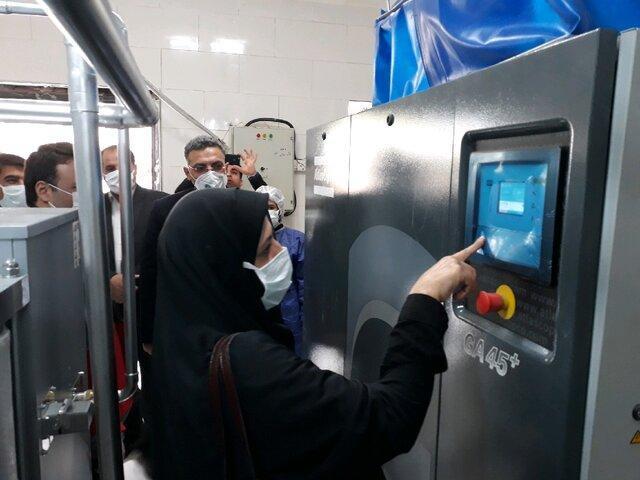 دستگاه اکسیژن ساز بیمارستان شهید مدرس ساوه به بهره برداری رسید