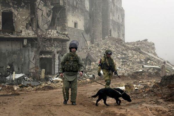 نیروهای ارتش سوریه 2 هکتار از اراضی استان درعا را مین روبی کردند