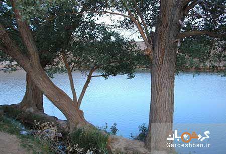 دریاچه و چشمه زیبای غربال بیز در یزد ، عکس